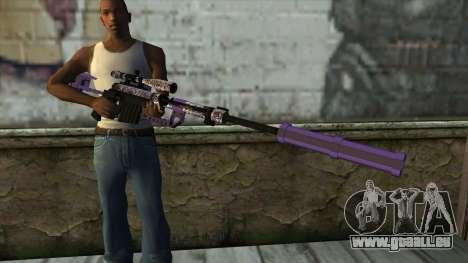 PurpleX Sniper Rifle für GTA San Andreas dritten Screenshot