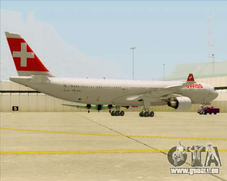 Airbus A330-300 Swiss International Air Lines pour GTA San Andreas sur la vue arrière gauche