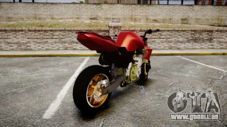 Yamaha FZ6 pour GTA 4 Vue arrière de la gauche