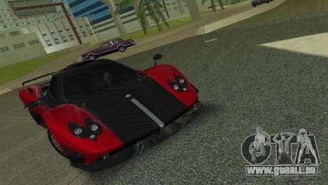 Pagani Zonda Cinque pour GTA Vice City sur la vue arrière gauche