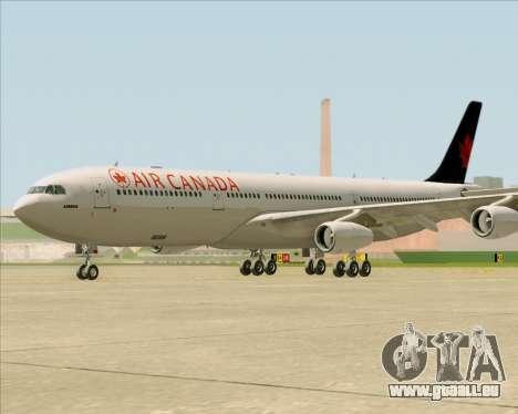 Airbus A340-313 Air Canada für GTA San Andreas linke Ansicht