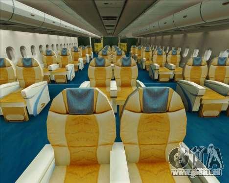 Airbus A380-841 Emirates für GTA San Andreas Motor