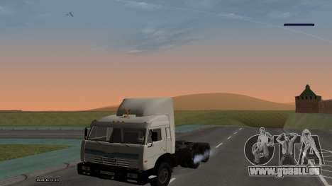 KamAZ-54115 für GTA San Andreas Rückansicht