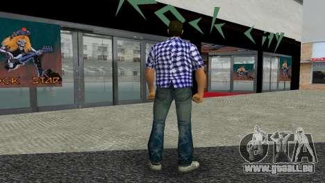 Kockas polo - sotetkek T-Shirt für GTA Vice City dritte Screenshot