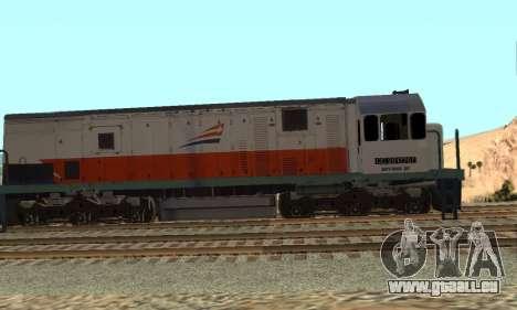 GE U18C CC 201 Indonesian Locomotive pour GTA San Andreas laissé vue