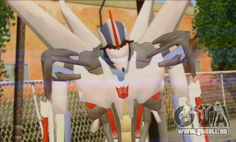 Starscrim from Transformers Prime pour GTA San Andreas troisième écran