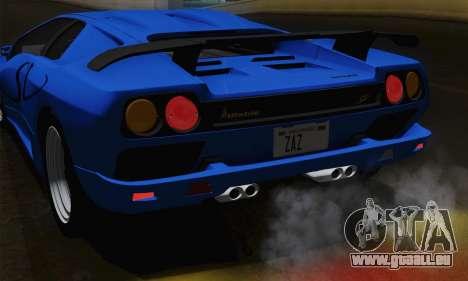 Lamborghini Diablo SV 1995 (ImVehFT) pour GTA San Andreas vue de dessus