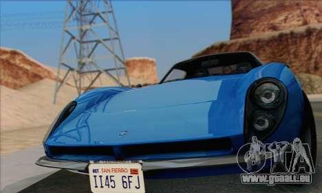 Grotti Stinger 1.0 (HQLM) pour GTA San Andreas sur la vue arrière gauche