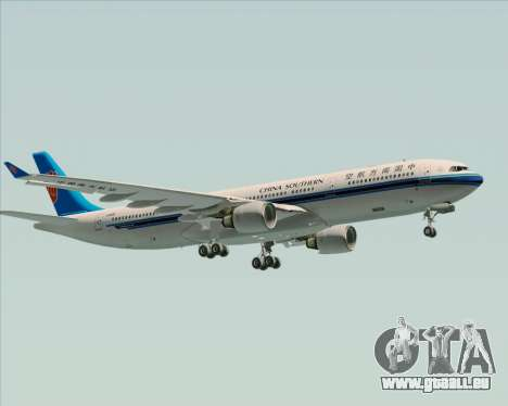 Airbus A330-300 China Southern Airlines für GTA San Andreas obere Ansicht