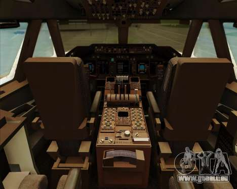 Boeing 747-8 Intercontinental United Airlines pour GTA San Andreas salon