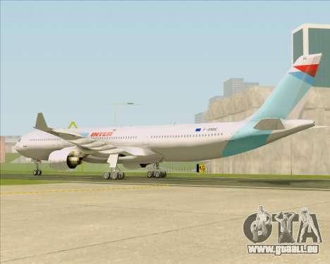 Airbus A330-300 Air Inter für GTA San Andreas zurück linke Ansicht