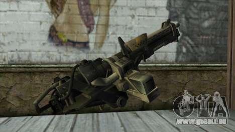 M247 Machine Gun Jorge Of Halo Reach pour GTA San Andreas deuxième écran