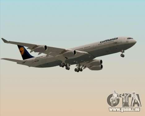 Airbus A340-313 Lufthansa für GTA San Andreas Innenansicht