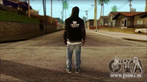 New Grove Street Family Skin v6 pour GTA San Andreas deuxième écran