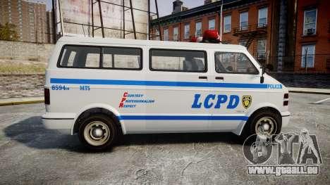 GTA V Bravado Youga LCPD für GTA 4 linke Ansicht
