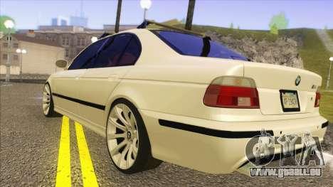BMW M5 E39 2003 Stance für GTA San Andreas zurück linke Ansicht