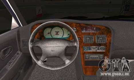 Proton Wira Official Malaysian Limousine pour GTA San Andreas sur la vue arrière gauche