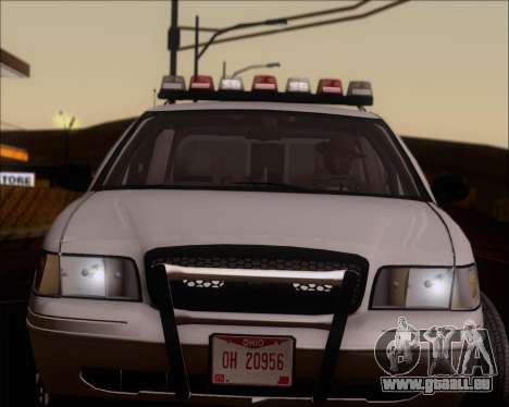 Ford Crown Victoria Tallmadge Battalion Chief 2 pour GTA San Andreas vue arrière
