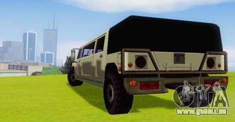 Patriot Limousine pour GTA San Andreas vue de droite