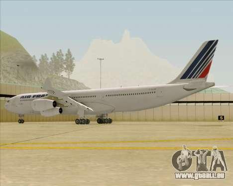 Airbus A340-313 Air France (Old Livery) pour GTA San Andreas sur la vue arrière gauche