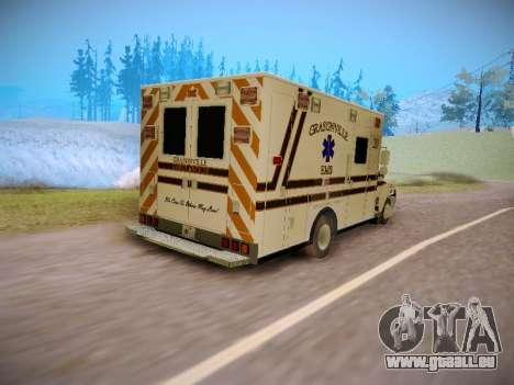 Pierce Commercial Grasonville Ambulance für GTA San Andreas Rückansicht