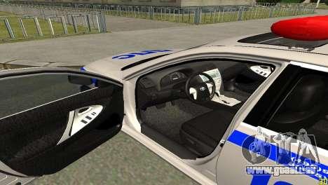 Toyota Camry ДПС für GTA San Andreas Rückansicht