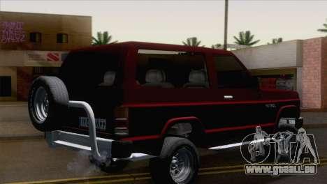 Nissan Patrol 2 Door pour GTA San Andreas laissé vue