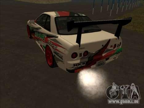 Nissan Skyline R32 Badass pour GTA San Andreas sur la vue arrière gauche