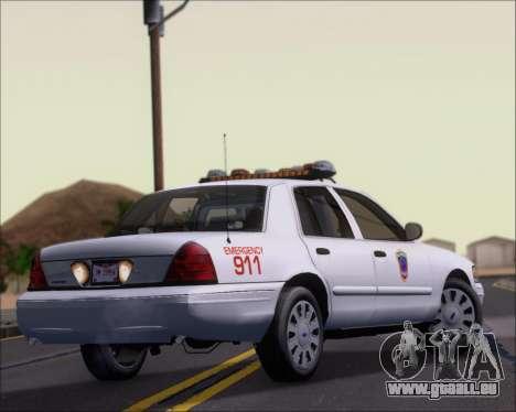 Ford Crown Victoria Tallmadge Battalion Chief 2 pour GTA San Andreas vue de droite
