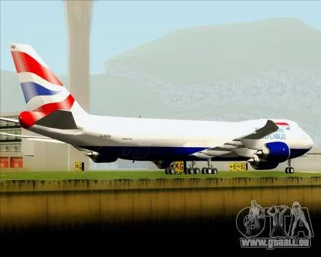 Boeing 747-8 Cargo British Airways World Cargo pour GTA San Andreas moteur