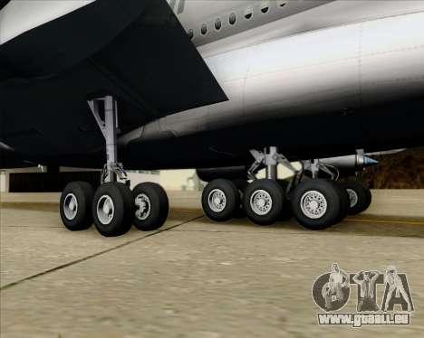 Airbus A380-861 Qatar Airways für GTA San Andreas obere Ansicht