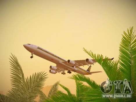 Airbus A340-600 Singapore Airlines für GTA San Andreas Seitenansicht