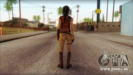 Tomb Raider Skin 5 2013 pour GTA San Andreas deuxième écran