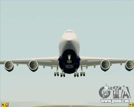 Boeing 747-8 Cargo Nippon Cargo Airlines für GTA San Andreas obere Ansicht