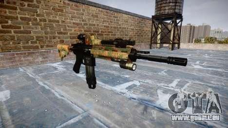 Automatische Gewehr Colt M4A1 Dschungel für GTA 4