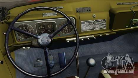 ZIL 131 - AL pour GTA San Andreas vue intérieure