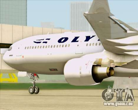 Airbus A330-300 Olympic Airlines pour GTA San Andreas vue intérieure
