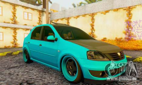 Dacia Logan Pearl Blue für GTA San Andreas