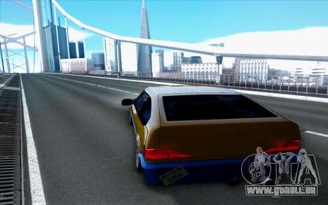 Blista By Next pour GTA San Andreas sur la vue arrière gauche