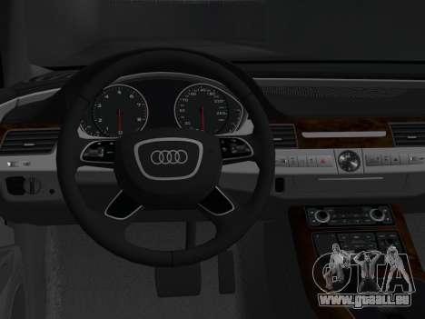 Audi A8 2010 W12 Rim3 pour GTA Vice City vue arrière