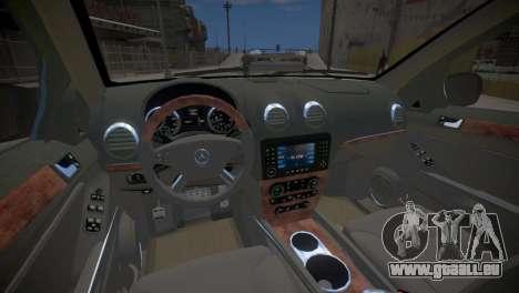 Mercedes-Benz GL450 AMG Police Interceptor 2013 pour GTA 4 est une vue de l'intérieur