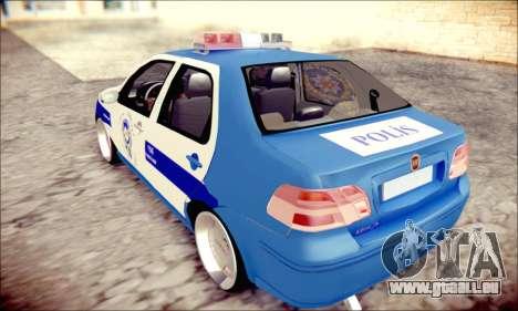 Fiat Albea Police Turkish pour GTA San Andreas laissé vue