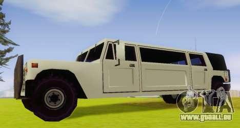Patriot Limousine pour GTA San Andreas laissé vue