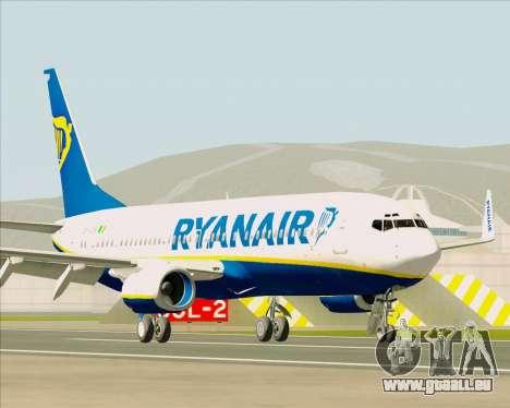 Boeing 737-8AS Ryanair für GTA San Andreas linke Ansicht