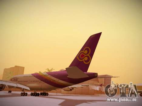 Airbus A380-800 Thai Airways International für GTA San Andreas zurück linke Ansicht