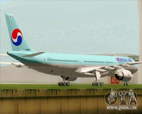 Airbus A330-300 Korean Air für GTA San Andreas rechten Ansicht