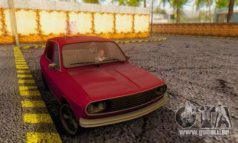 Dacia 1300 Stock 1979 pour GTA San Andreas sur la vue arrière gauche