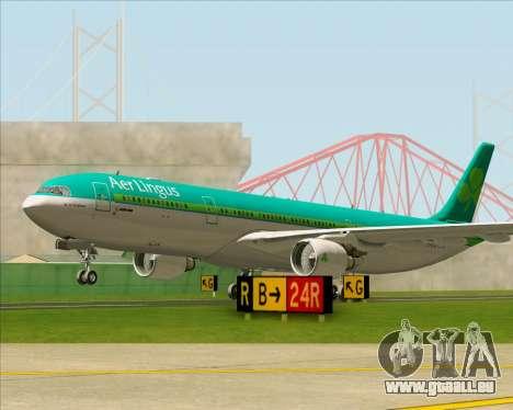 Airbus A330-300 Aer Lingus für GTA San Andreas obere Ansicht