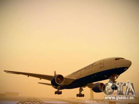 Boeing 777-212ER Transaero Airlines pour GTA San Andreas laissé vue