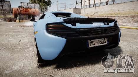 McLaren 650S Spider 2014 [EPM] Michelin v3 pour GTA 4 Vue arrière de la gauche